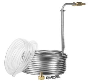 JockeyBox 25 Foot Stainless Steel Immersion Wort Chiller with No-leak Fittings and Accessories