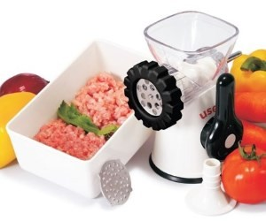 Useful Manual Meat Grinder, Mincer, and Pasta Maker