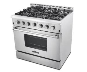 Thor Kitchen 36 inch Gas Range HRG3618U