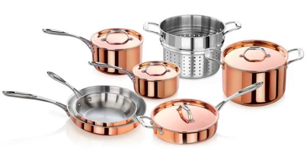 Artaste Rain Tri-Ply Copper Clad Induction Ready Cookware Set Review