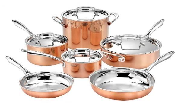 Cuisinart 10-Piece Tri-Ply Copper Cookware Set Review