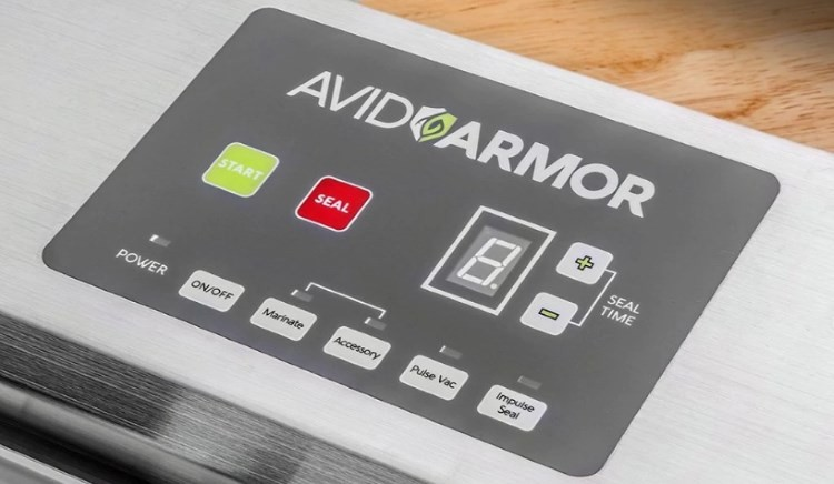 Avid Armor Vacuum Sealer Model A100 Buttons